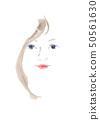 여성의 얼굴 정면 50561630