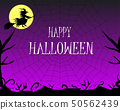 Happy Halloween background with silhouettes. 50562439