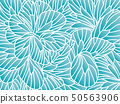abstract floral background with flowers. doodle 50563906