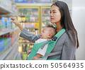 Young business woman choosing breakfast. 50564935