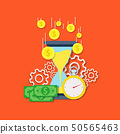 Time is money concept vector flat illustration 50565463