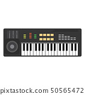 Music piano keyboard vector. Background musical 50565472