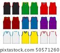 탱크 탑 민소매 셔츠 농구 유니폼 템플릿 일러스트 세트 50571260
