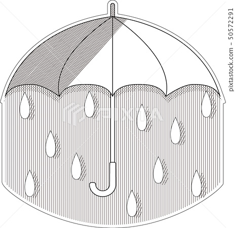 Rainy season-black and white 50572291