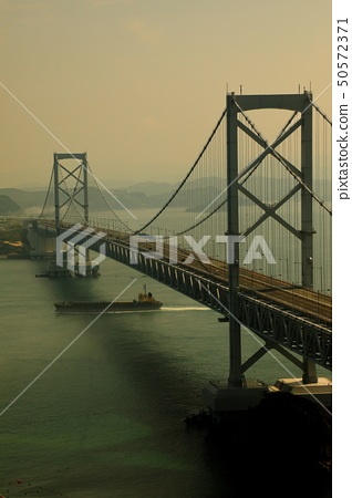 Landscape of Japan Seto Inland Sea National Park Tokushima Prefecture Naruto Dainaruto Bridge 50572371