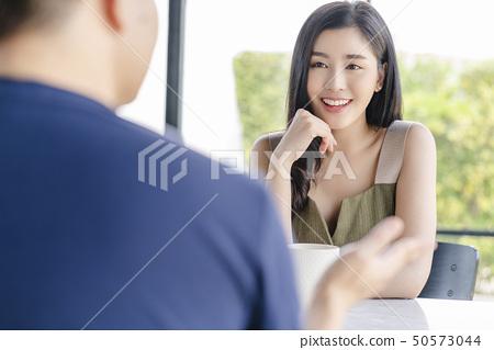 男人和女人咖啡馆夫妇 50573044
