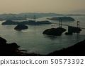 ภูมิประเทศของประเทศญี่ปุ่นอุทยานแห่งชาติเซโตะทะเลในเมืองเอฮิเมะอิมาบาริชิมานามิไกโด 50573392