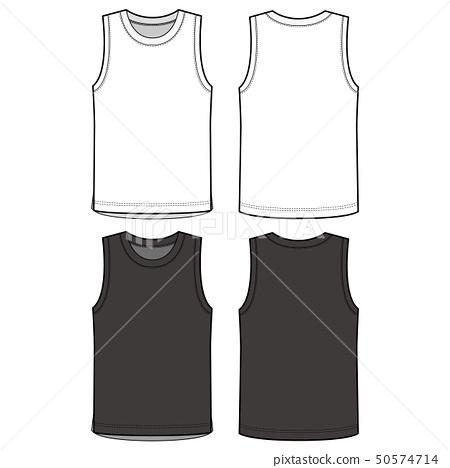 Sleeveless TANK TOP Fashion Flat Templates 50574714