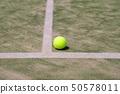 옴니 코트에서 테니스 공 50578011