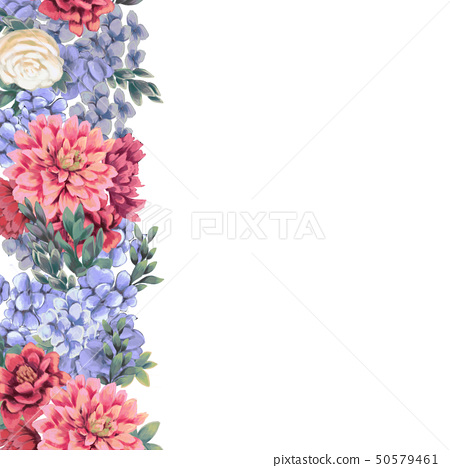 Floral border for design save the date cards, invitations, posters 50579461