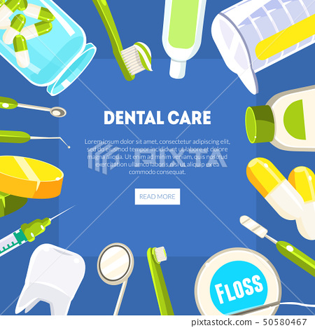 Dental Care Banner Template, Dentist Tools and Equipment, Dental Clinic Service, Mobile Website 50580467