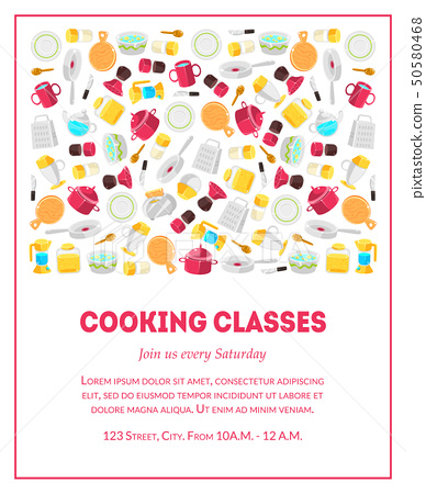 Cooking Classes Banner Template Culinary Stock Illustration 50580468 Pixta