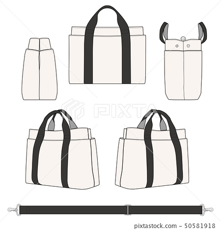 Canvas Tote bag Fashion Flat Templates 50581918