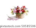 花束的照片由各種各樣的花製成 50585506
