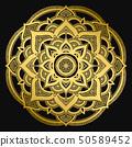 Mandala design. Ethnic round ornament. Hand drawn indian motif. Mehendi meditation yoga henna theme 50589452