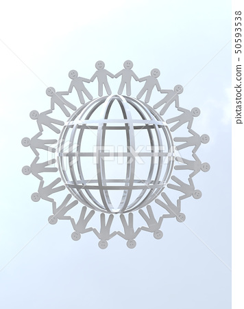 CG 3D 일러스트 입체 디자인 아이콘 표시 인 인류 미소 고리 지구 세계 평화 50593538
