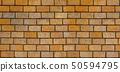 Surface of the wall, brick wall, orange block. 50594795
