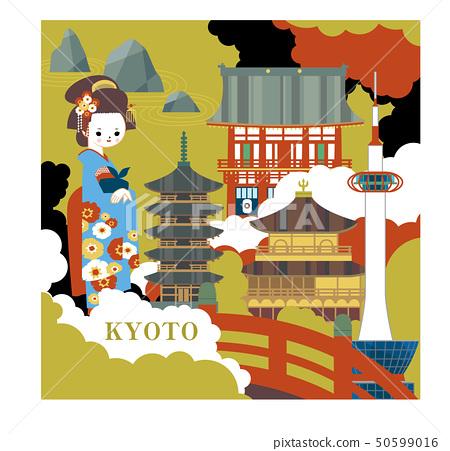 京都的各種形象藝術 50599016