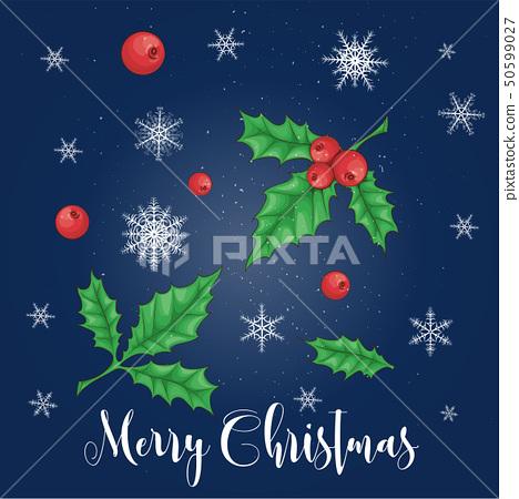 Set of Christmas decorations. Vector illustration 50599027