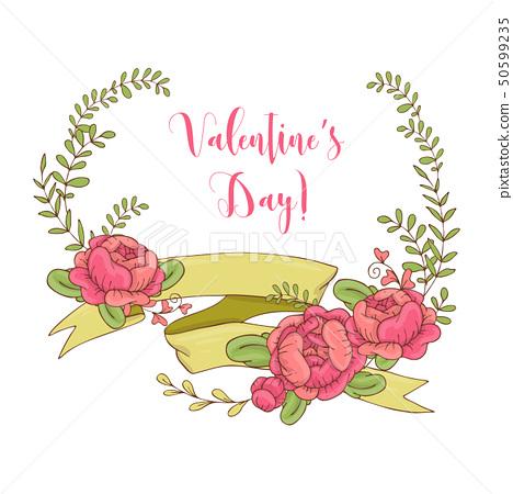 Wedding graphic set, arrows, hearts, laurel, 50599235