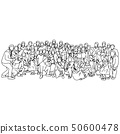 big family taking photo together vector 50600478