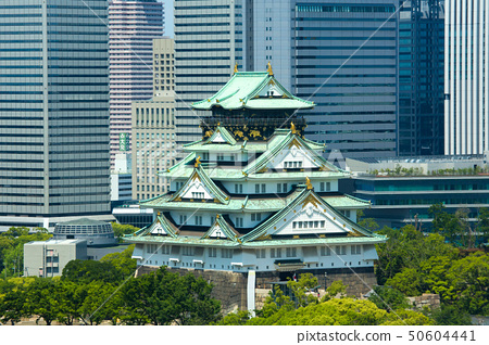 Osaka Castle and the OBP building group 50604441