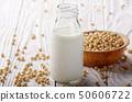 Non-dairy alternative Soy milk or yogurt in glass 50606722