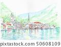 Cityscape of World Heritage-Lake Hallstatt, Austria 50608109