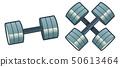 Vector illustration of retro barbells 50613464