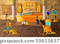 Ancient Egypt tomb of pharaoh cartoons vector 50613637