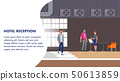 Hotel Reception Illustration. Client Booking Check 50613859