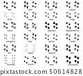 Set of footprints of wild animals  50614828
