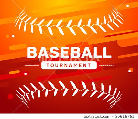 Baseball flyer poster template tournament invitation. Baseball background advertising design banner 50616763