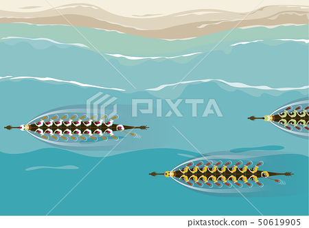 Aerial view of Dragon boat competition design 50619905