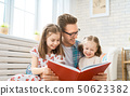 father, child, reading 50623382