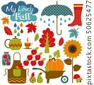Autumn background. Set design element. 50625477