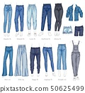 Vector leggings fit style jeans female denim pants 50625499