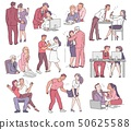 A set of situations of sexual harassment and abuse, violence and bullying between men and women. 50625588