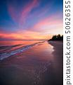 Sunrise with dramatic color sky over sea. 50626355