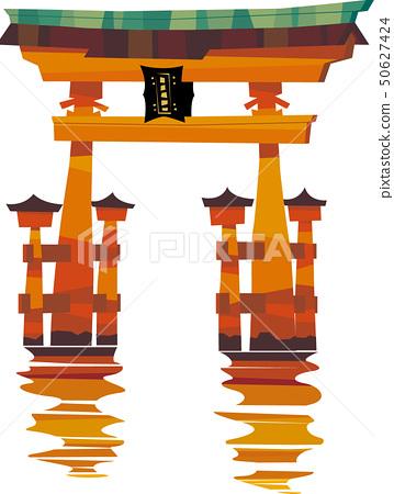 在嚴島神社的鳥取 50627424