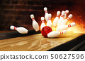 Bowling strike hit with fire explosion 50627596