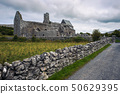 Corcomroe Abbey ruins and its cemetery in Ireland 50629395