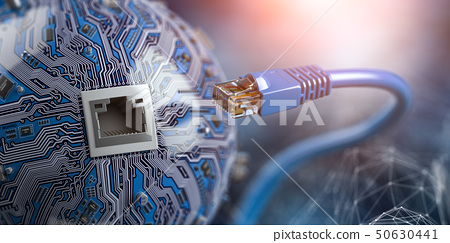 LAN network connection ethernet cable 50630441