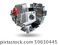 Household domestic appliances in the form 50630445