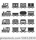 Train Icons Set on White Background. Vector 50632830