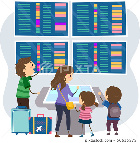 Stickman Family Airport Flight Information 50635575