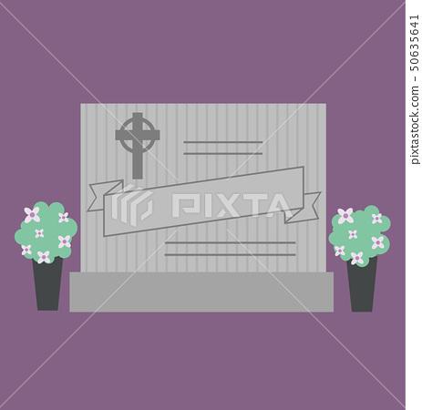 Grave Stone Cemetery Illustration 50635641