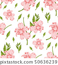 Pattern with pink orchid flowers 50636239