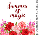 Summer tropical floral background 50636246