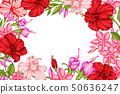 Tropical background with flowers 50636247